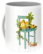 Autumn Still Life Chair Coffee Mug
