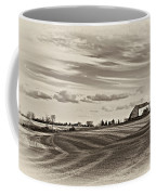 Autumn Swirls Sepia Coffee Mug