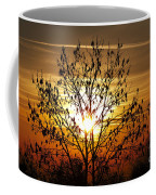 Autumn Tree In The Sunset Coffee Mug by Michal Boubin