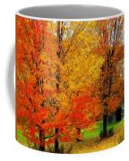 Autumn Trees By Barn Coffee Mug