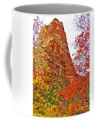 Autumn View Along Zion Canyon Scenic Drive In Zion National Park-utah Coffee Mug