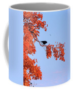Autumn View Through Red Leaves Coffee Mug