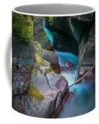 Avalanche Gorge Glacier National Park Painted   Coffee Mug