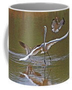 Avocets Chase Off The Egret Coffee Mug