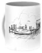 Awaiting Bluefish Run Ocracoke Nc 1970s Coffee Mug