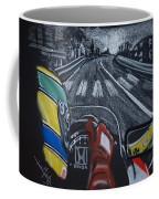 Ayrton Senna On Board At Monaco 89 Coffee Mug
