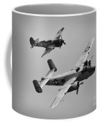 B-25 And Escort Bw Coffee Mug