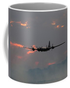 B-29 Bomber Aircraft In Sunset Flight Coffee Mug
