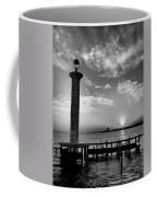 B And W Biloxi Sunset I Mlo Coffee Mug