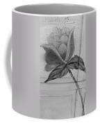 B W Wood Flower Coffee Mug