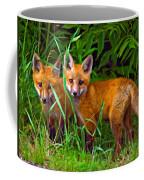 Babes In The Woods Impasto Coffee Mug