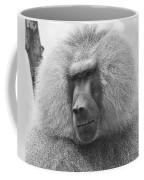 Baboon In Black And White Coffee Mug
