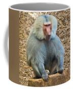 Baboon On A Stump Coffee Mug