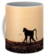 Baboon Sunset Coffee Mug