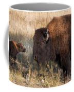 Baby Bison Meets Daddy Coffee Mug
