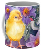 Baby Chick And Hummingbird Coffee Mug