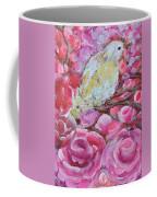 Baby Dove Of Peace Pink Flowers Coffee Mug