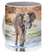 Baby Elephant Spraying Water Coffee Mug