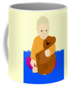 Baby Holding Teddy Bear Coffee Mug
