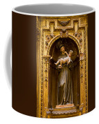 Baby Jesus And A Monk Sculpture Coffee Mug