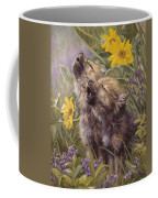Baby Wolves Howling Coffee Mug by Lucie Bilodeau