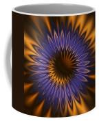 Bachelor Button Mandala Coffee Mug