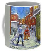 Back Lane Hockey Shoot Out By Prankearts Coffee Mug