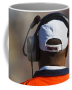 Back Of Mike London Head With Headset Virginia Cavaliers Coffee Mug by Jason O Watson