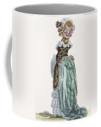 Back View Of A Promenade Gown, Engraved Coffee Mug