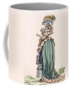 Back View Of Ladys Dress, Engraved Coffee Mug