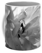 Backlit Black And White Tulip Coffee Mug