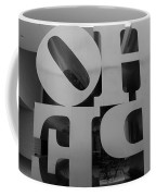 Backside Of Hope In Black And White Coffee Mug