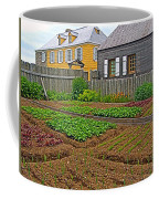 Backyard Garden In Louisbourg Living History Museum-1744-ns Coffee Mug