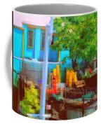 Backyard In Bright Colors Coffee Mug