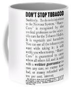 Baco-curo Ad, 1893 Coffee Mug