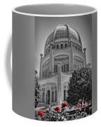 Bahai Temple Wilmette In Black And White Coffee Mug