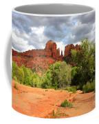 Balance At Cathedral Rock Coffee Mug by Carol Groenen