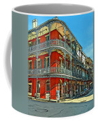 Balconies Painted Coffee Mug