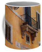 Balcony Piazza Della Madallena In Roma Coffee Mug