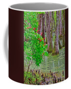 Bald Cypress And Red Buckeye Tree At Mile 122 Of Natchez Trace Parkway-mississippi Coffee Mug