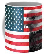Bald Eagle American Flag Coffee Mug