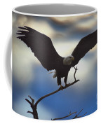 Bald Eagle And Clouds Coffee Mug