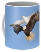 Bald Eagle And Greater Black-backed Gull Coffee Mug