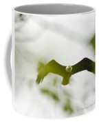 Bald Eagle Flying To Perch Coffee Mug