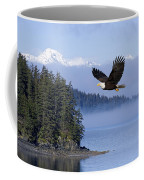 Bald Eagle In Flight Over The Inside Coffee Mug