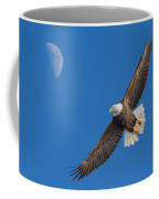 Bald Eagle Soaring With The Moon Coffee Mug