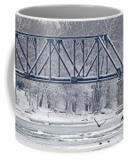 Bald Eagle With Fish By Railroad Bridge 6639 Coffee Mug