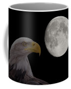 Bald Eagle With Full Moon - 2 Coffee Mug