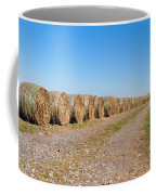 Bales Of Hay On An Old Farm Road Coffee Mug