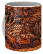 Bali Wood Carving Coffee Mug